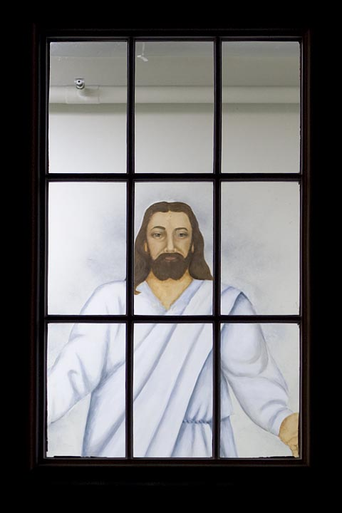 jesus in window